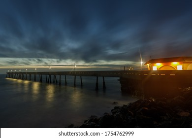 Clouds Moving over Pacifica Municipal Pier in Northern California