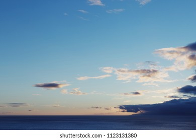 Clouds and the ocean