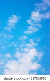 Clouds on a blue background