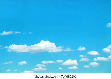 Clouds on blue sky can be used for nature background