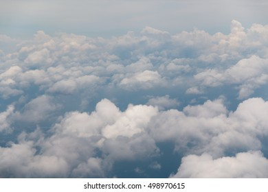 Clouds on the horizon, from the perspective of the plane