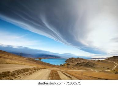 Clouds on the lake, Lake Baikal