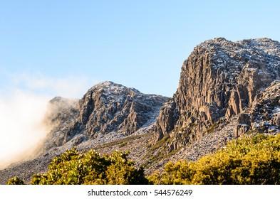 Clouds on mountain, Ben Lomond National Park, Tasmania, Australia