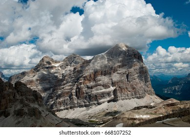 Clouds on mountain peaks