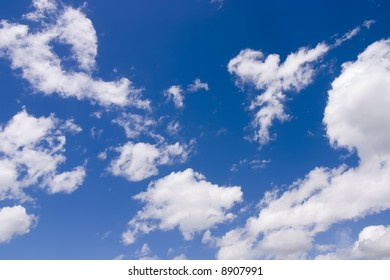 The clouds on the sky