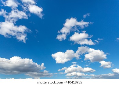 Clouds on a sunny day with wonderful blue sky