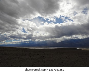 Clouds over Badwater Basin, Death Valley