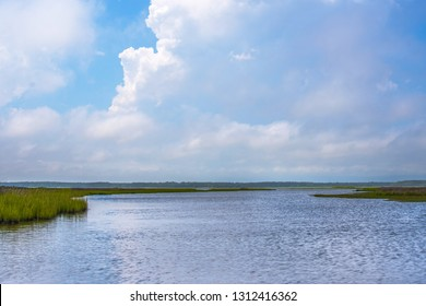 Clouds over the Bay at Assateague State Park near Ocean City, Maryland Summer 2017