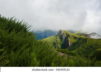 clouds over the beautiful hills Madeira