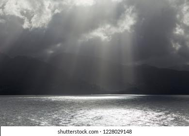 Clouds over Caribbean sea Grenada island