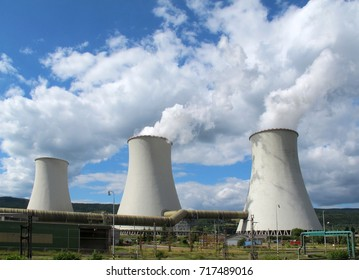 Clouds over cooling towers. Power Plant Prunerov (Czech Republic)
