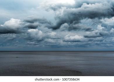 Clouds over gulf of Riga, Baltic sea.