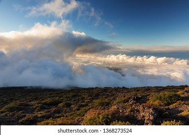 Clouds over the Haleakala volcano, Maui, Hawaii