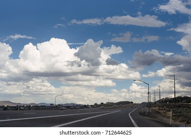 Clouds over highway