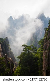 Clouds over Huangshan summit