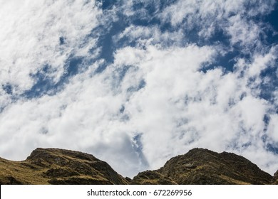 Clouds over the mountain