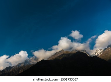 Clouds over Mountain at Badrinath