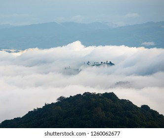 clouds over the mountains
