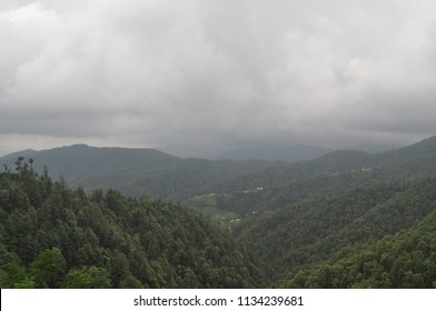 Clouds over mountains in Kufri, HP, India