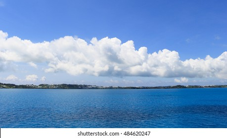 Clouds over the ocean in Bermuda