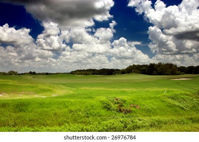 clouds over a public golf course