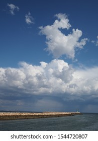 Clouds over the river in Lagos, Portugal