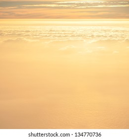 Clouds over the sea at sunset (Canary islands)