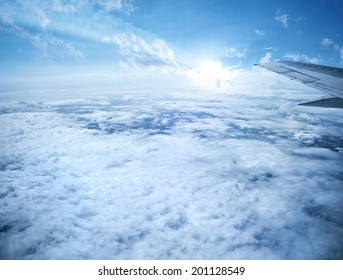 Clouds from plane 9