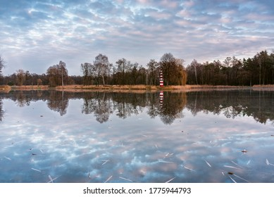 Clouds reflection in the lake. - Shutterstock ID 1775944793