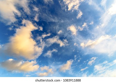 Clouds scenery as natural background in Greece