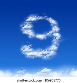 clouds in shape of figure nine