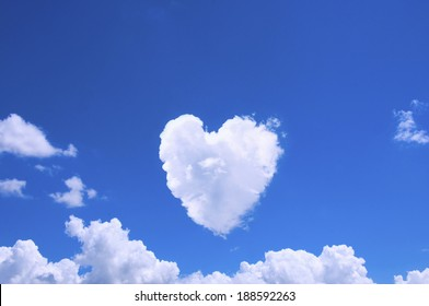 Clouds in the shape of Heart