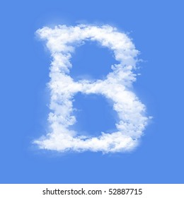 Clouds in shape of the letter B