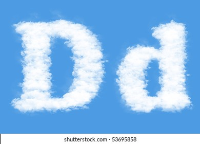 Clouds in shape of the letter D