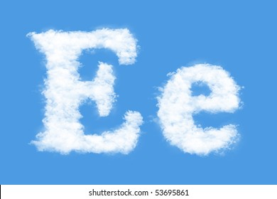 Clouds in shape of the letter E