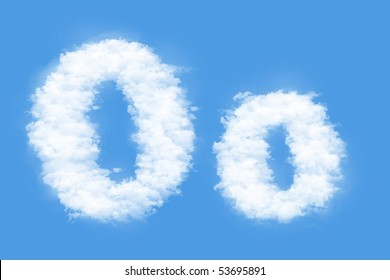 Clouds in shape of the letter O