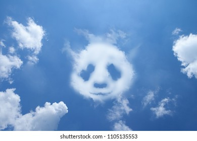 Clouds shaped like a Panda.