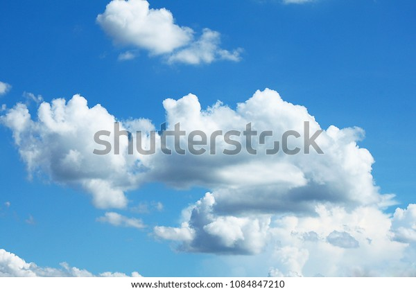 clouds in the sky after rain