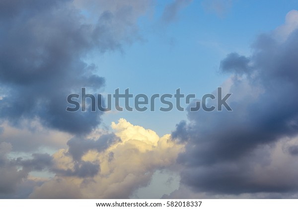 Clouds with sky after sunset