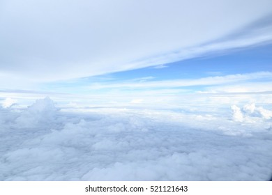 Clouds and sky from airplane