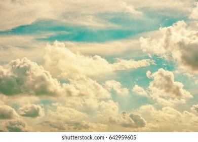 clouds and sky background, vintage style