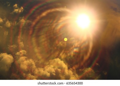 Clouds sky background watercolor color blur design texture