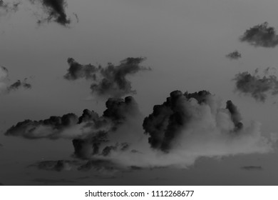 clouds and sky black and white photo
