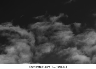 clouds in the sky black and white photo