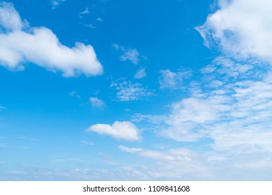 Clouds and sky in daytime. Season summer is skyclear in daytime.