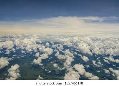 Clouds. Sky from Mabul, Malaysia