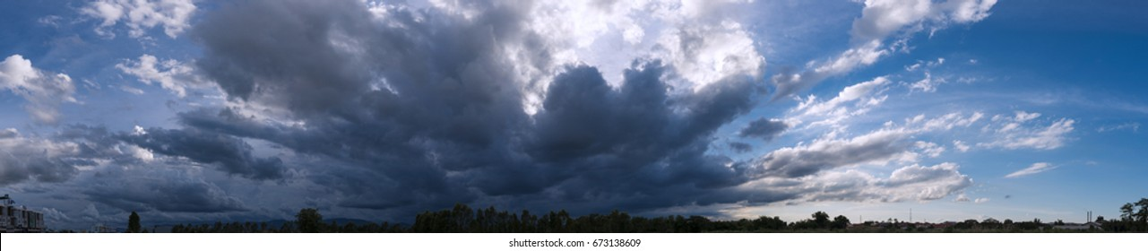 Clouds in the sky, Overcast sky before rain.