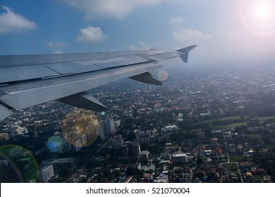 Clouds and sky as seen through window of an aircraft,Classic image through aircraft window onto jet engine,Looking through window aircraft during flight a nice blue sky,Aircraft Window,airplane window