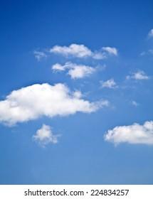 Clouds in the sky vertical