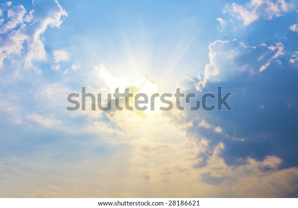 clouds and sun in the sky